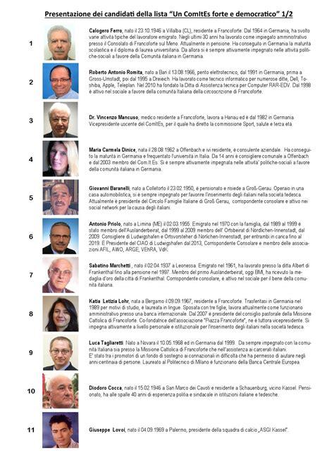 consolato francoforte sul meno presentazione candidati comites francoforte by comites