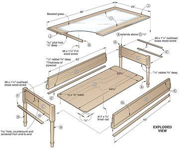 Display Coffee Table Plans   diywoodtableplans