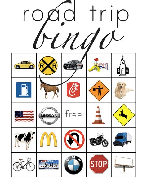 printable road bingo road trip bingo road trip bingo road trips and car bingo