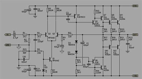 Skema Audio Power Amplifier Skema Ampli 300 500 Watt On