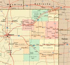 northeast colorado map colorado mappery