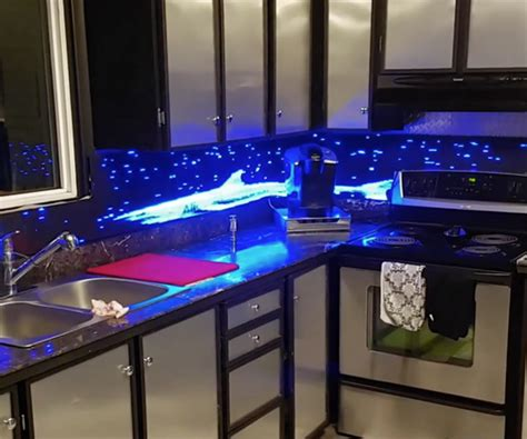led digital kitchen backsplash lixie digital display the awesomer