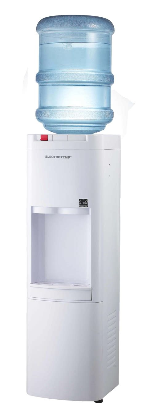 office grade cold and hot bottled water dispenser view