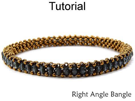 jewelry beading tutorial pattern bangle bracelet