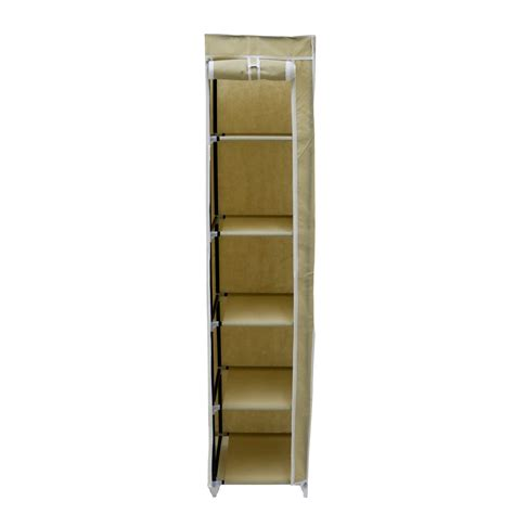 canvas wardrobe clothes rail hanging storage