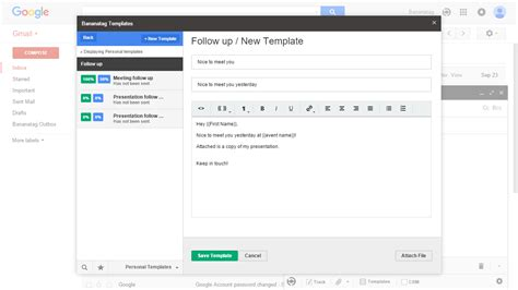 how to create an email template in gmail how to use email templates in gmail bananatag