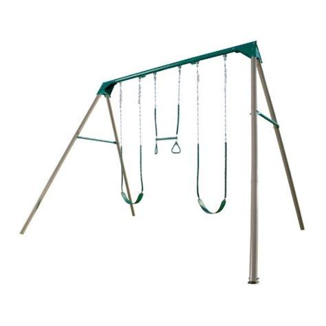 heavy duty swing set kits lifetime heavy duty a frame metal swing set kit