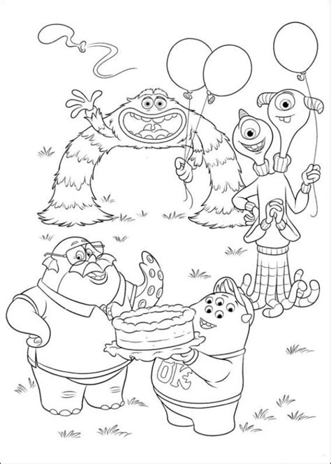 coloring pages of monster university kids n fun com 45 coloring pages of monsters university