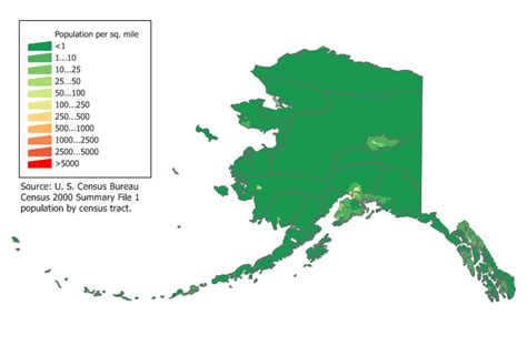 us map alaska state list of u s states by population density
