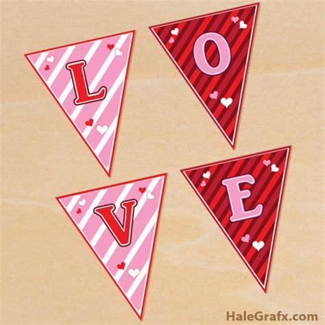 printable valentine banner free printable valentine s day alphabet banner pack