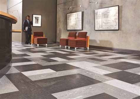 tarkett brings natural organic visuals  rubber flooring   minerality woodstone