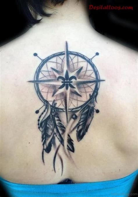 dream catcher tattoo on back 60 excellent compass tattoos designs on back