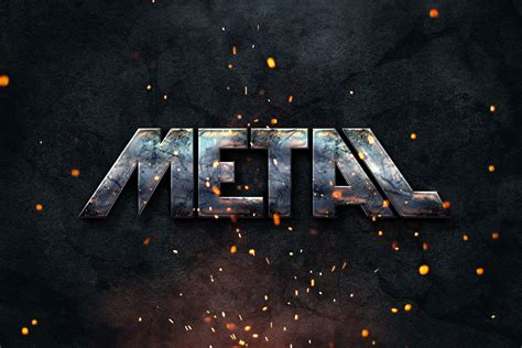 metal logo design photoshop metal text style freebies fire free graphic design