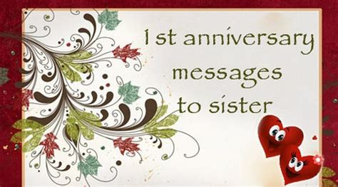 1st wedding anniversary gift for sister 1st anniversary messages to sister wedding anniversary wishes