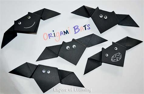 Easy Bat Origami - 13 bat crafts for