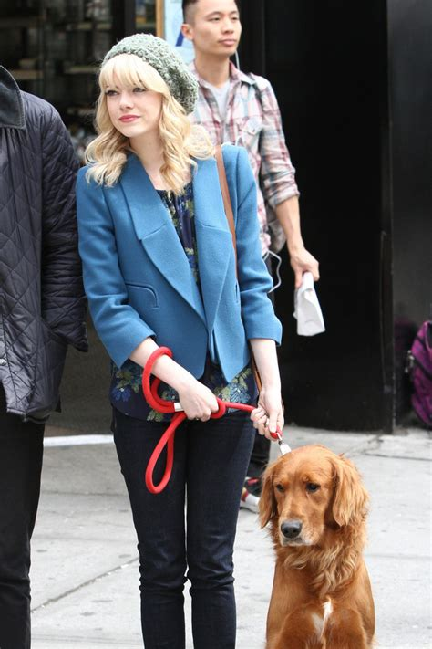 emma stone dog tuesday emma stone the week in pictures may 31 2013