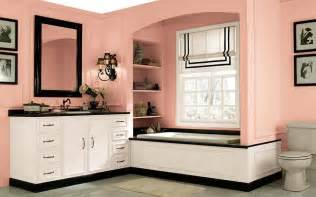 combine pink bathroom paint colors with white vanity and black marble small bathtub ideas pictures remodel decor