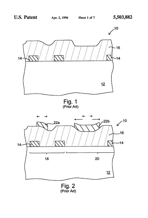 integrated circuit topography cipo patent us5503882 method for planarizing an integrated circuit topography patents