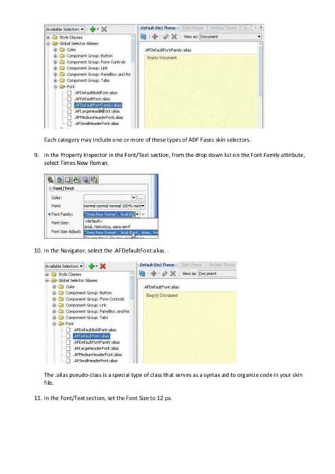 tutorial for oracle adf oracle adf 11g skinning tutorial