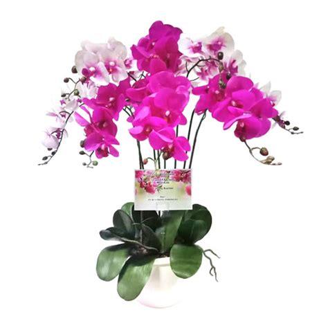 Pot Anggrek Plastik bunga plastik artificial toko bunga murah