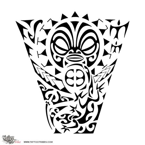 protection tattoo designs of tiki figure protection custom