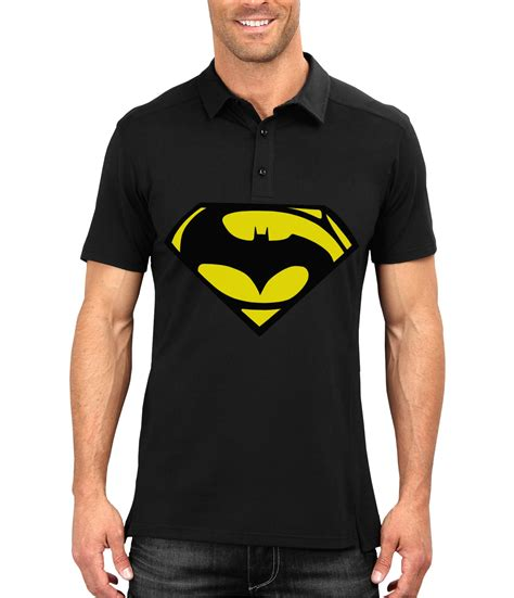Polo Shirt Batman Black 1 batman vs superman black polo swag shirts