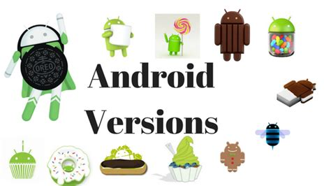 android versions names list of all android os version names features 2018