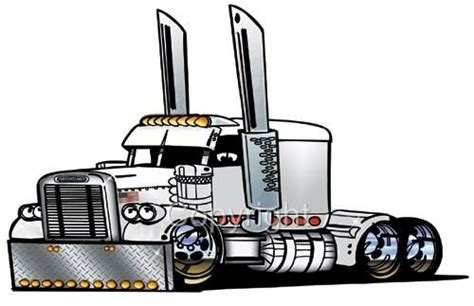 Custom Printed Wall Murals details about big rig semi truck freight hauler cartoon t