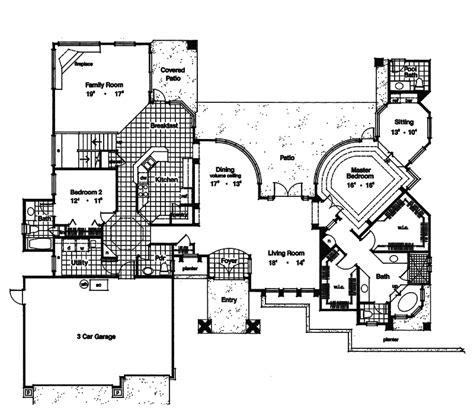southwestern floor plans daytona southwestern style home plan 047d 0164 house