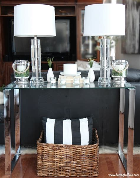 sofa table setup decorating with lanterns outdoor and indoor ideas