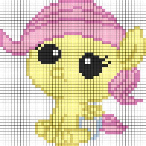 my pony perler bead patterns my pony newborn fluttershy perler bead pattern