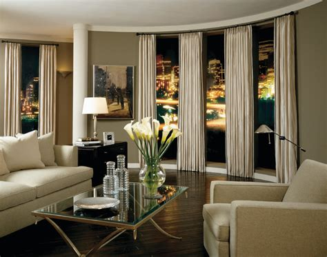 modern window treatments for living room sophisticated style