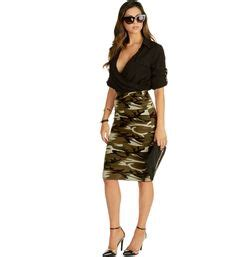 New Recommended Pencil Skirt Detail Ada Di Picture Yaaa details about new neon pink camouflage midi dress womens camo army green sleeve