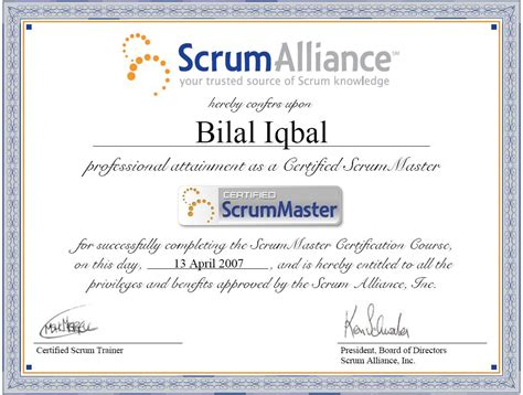 Pm Certificate And Mba by Portfolio Bilal Iqbal Mba Pmp Pmi Acp Lssbb Csm Ccp