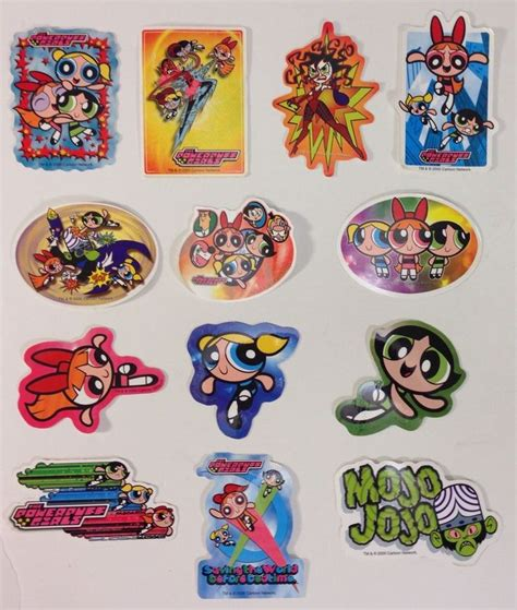 The Powerpuff Sticker the powerpuff stickers set of 13 a a global industries vending 2000 new stuff to buy