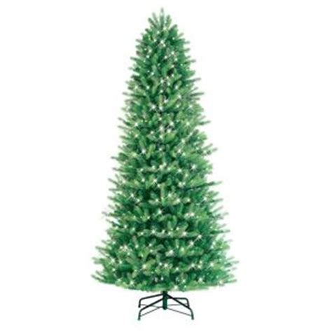 ge 9 ft pre lit led just cut black fir artificial tree with warm white lights