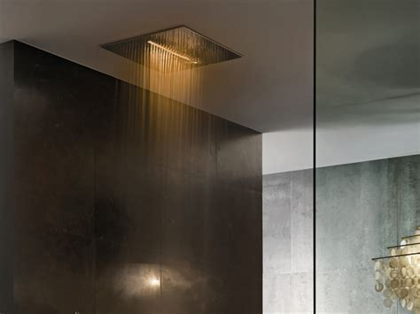 Overhead Chromotherapy Showerhead from Fantini: Acqua Zone