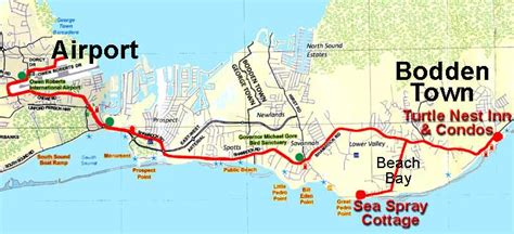 printable map grand cayman island maps for turtle nest inn grand cayman exotic