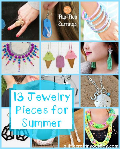 13 diy jewelry pieces for summer a little craft in your day