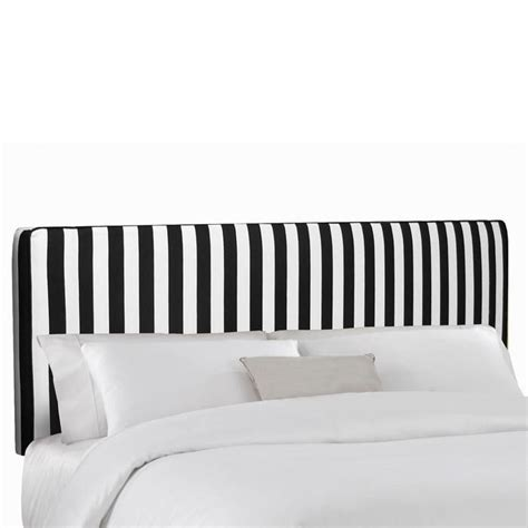 Black And White Stripe Headboard Intriguing Interiors Black And White Striped Headboard