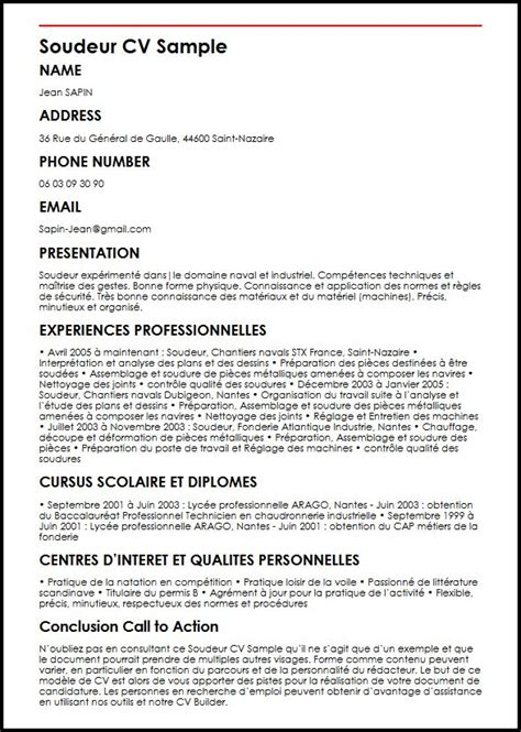 Lettre De Motivation De Soudeur Exemple De Cv Soudeur