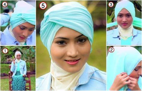tutorial hijab turban sehari hari tutorial hijab turban alhumaira yang simple untuk sehari hari