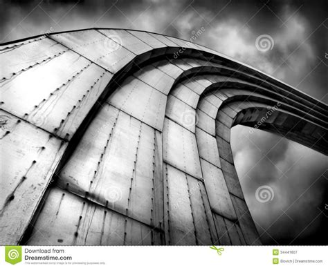 black white futuristic abstract grand steel rainbow looking to the sky background