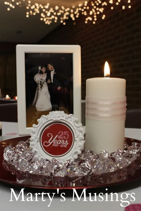 25th anniversary decorations vow renewal ideas diy
