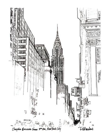 Chrysler Building Drawing by Stunning Quot Chrysler Building Quot Drawings And Illustrations