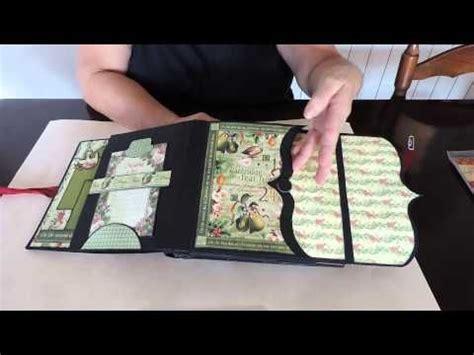 tutorial scrapbook akordion mini scrapbooks the night before christmas and tutorials