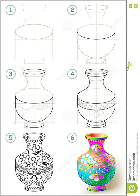 How To Draw A Vase Step By Step by Page Shows How To Learn Step By Step To Draw Beautiful