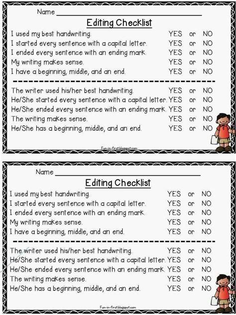 business letter peer editing checklist writing checklists in