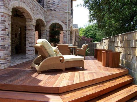 Wooden Patio Designs Wood Patio Decking Buildipedia