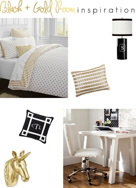 Pottery Barn Teen Bedrooms the southern thing black and gold room inspiration